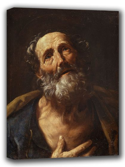 Reni, Guido: Saint Peter Penitent. Fine Art Canvas. Sizes: A4/A3/A2/A1 (002097)